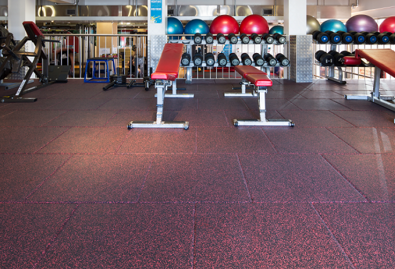 Rubber Flooring - Les Mills - Premium Gym Tiles