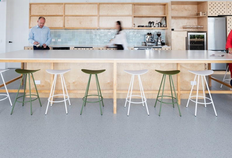 Recycled Rubber Flooring - GQ Office - NZ Stock